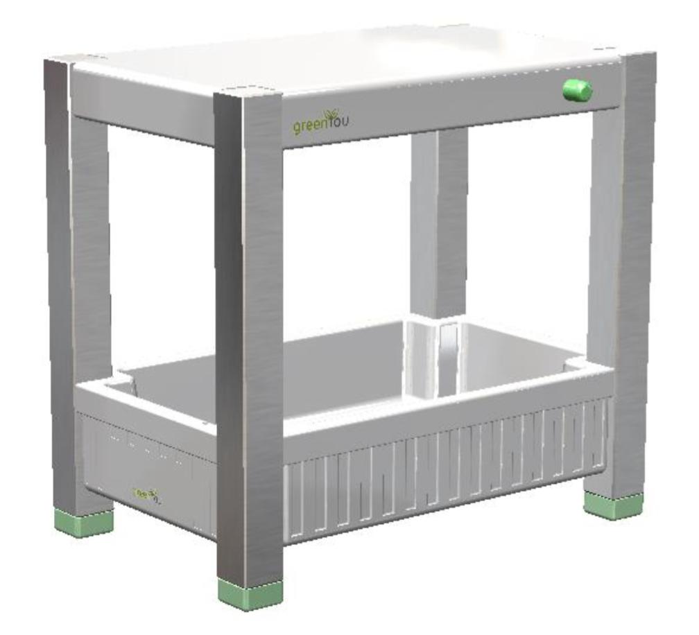 3D Entwurf des Zimmergewächshauses greenUnit 2-0