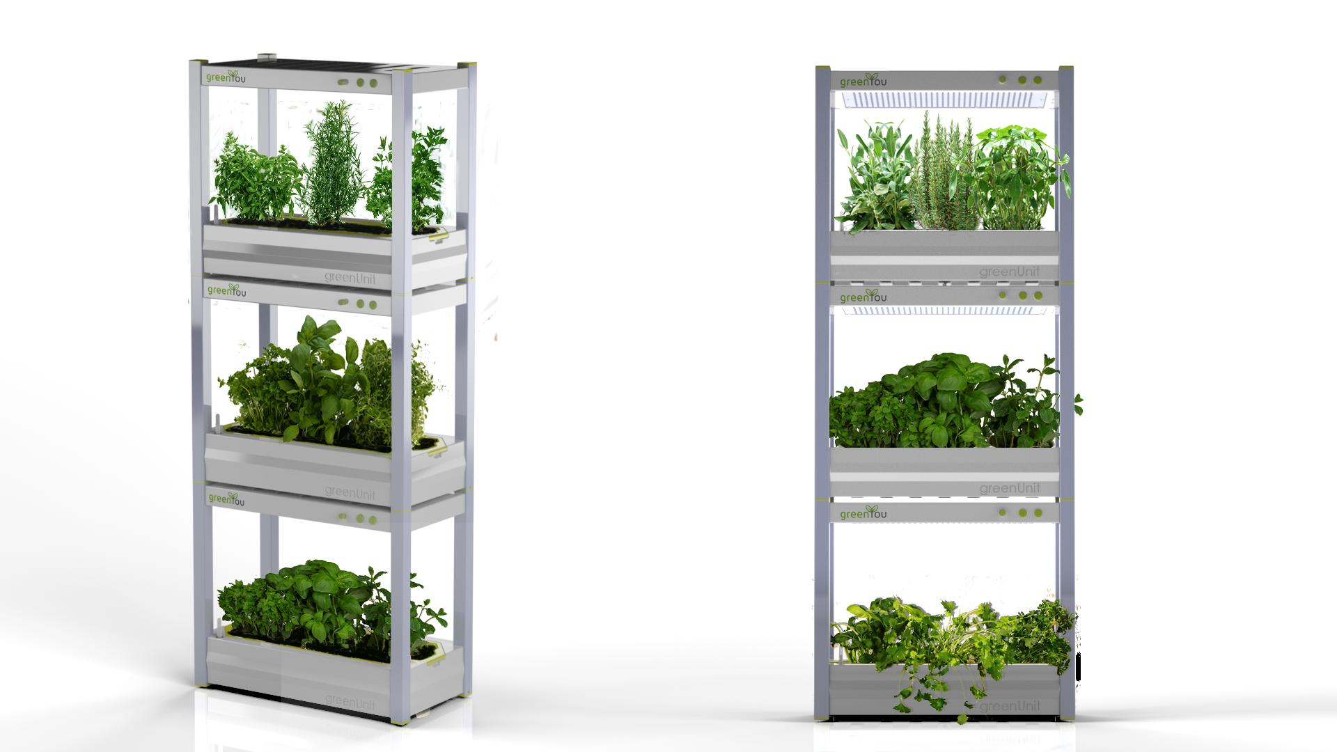 Der greenYou Indoor Garten ist stapelbar und ideal für Selbstversorger